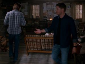 Sam and Dean circle around each other